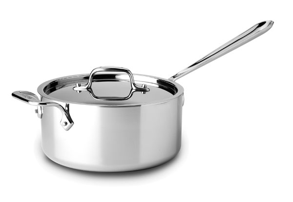 All Clad D3 Stainless Saucepan With Helper Handle 3 Quart