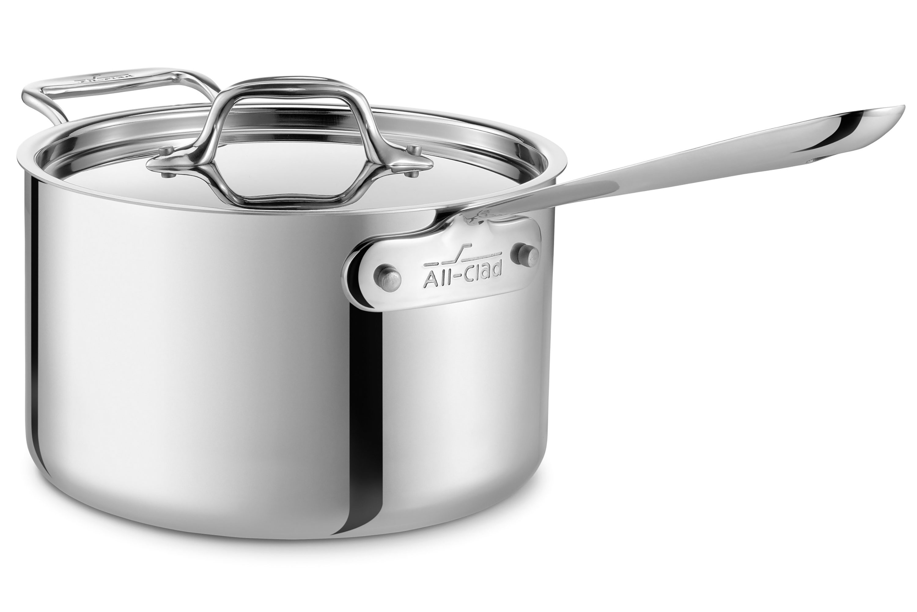 All Clad D3 Stainless Saucepan With Loop Handle 4 Quart