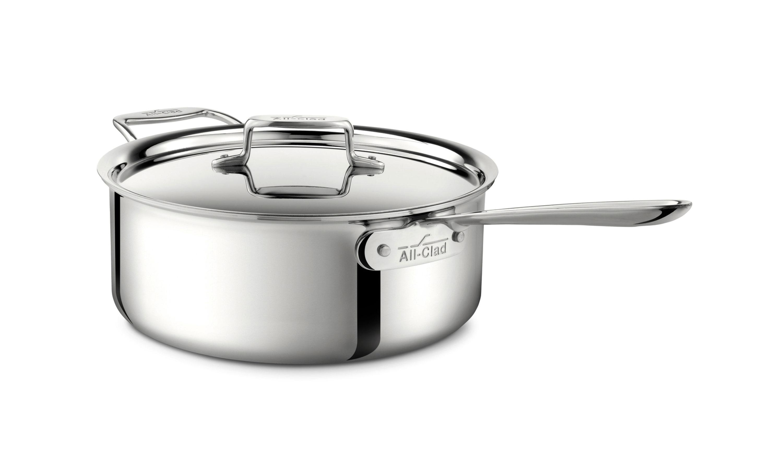 All Clad D3 Stainless Deep Saute Pan 6 Quart Cutlery