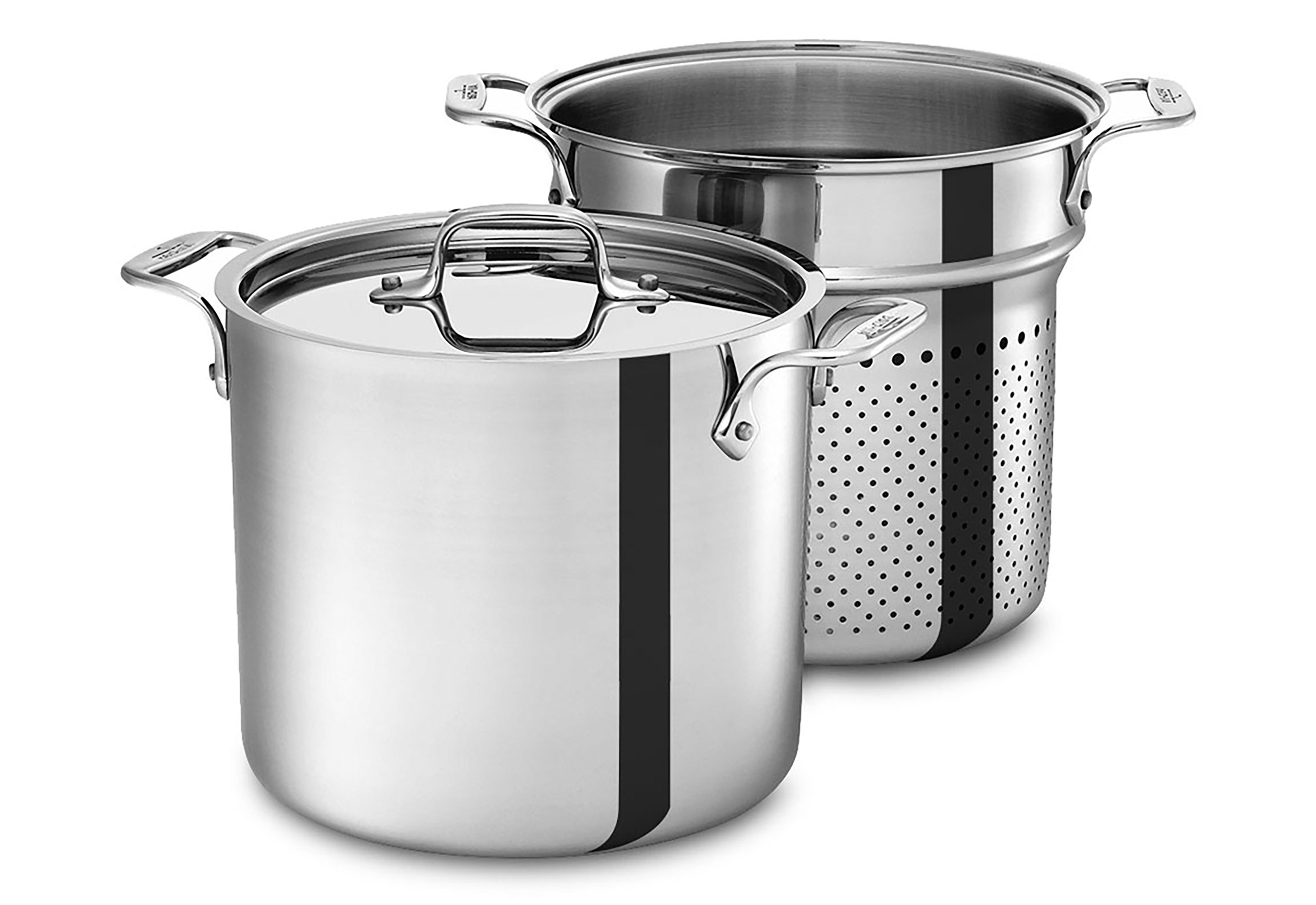 All Clad Stainless Pasta Pentola Stock Pot With Insert 7