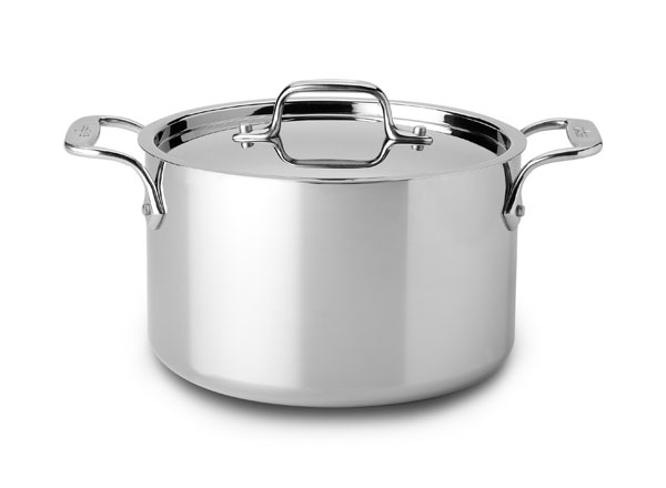 all clad d3 stainless casserole 4 quart cutlery and more. Black Bedroom Furniture Sets. Home Design Ideas