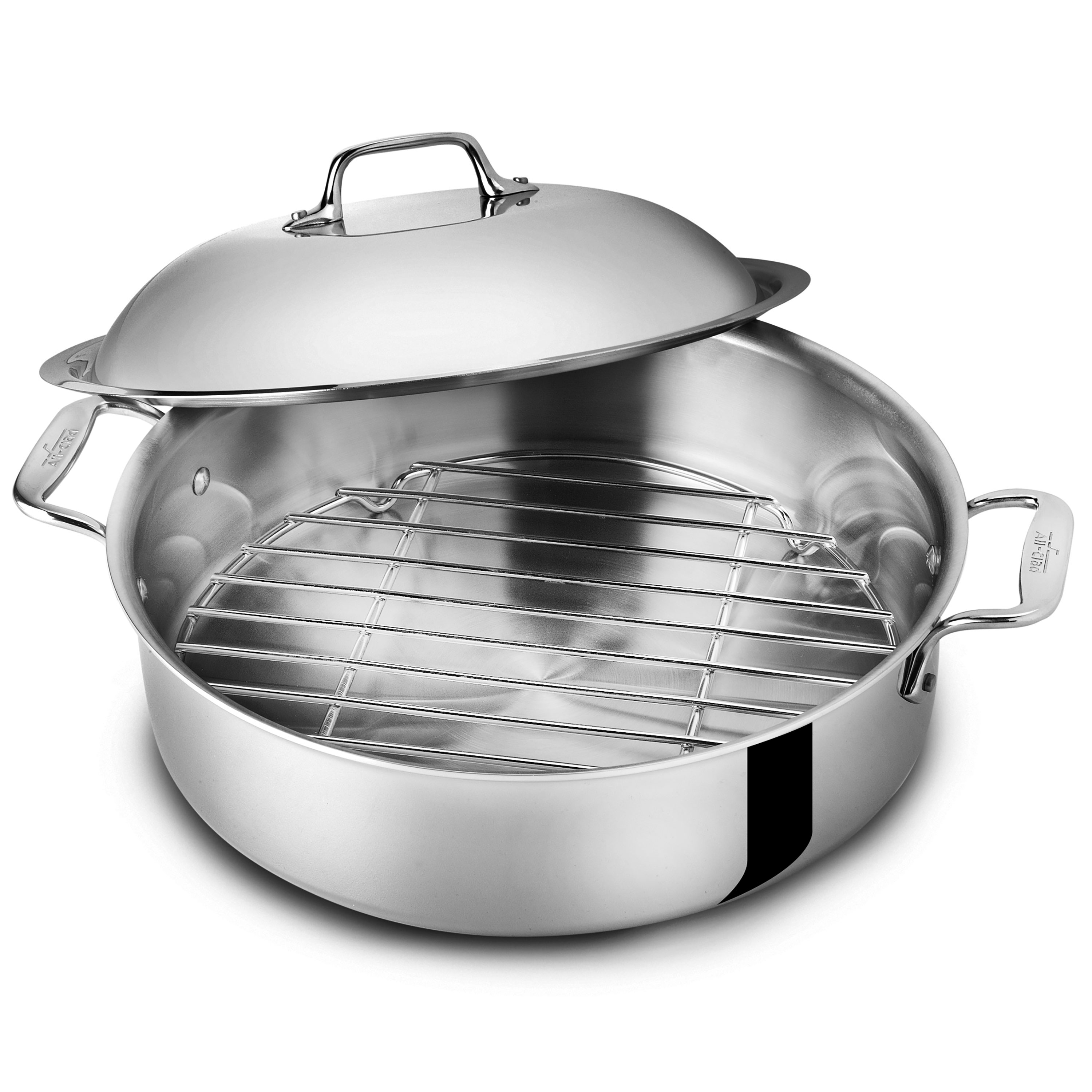 All Clad D3 Stainless French Braiser With Rack 6 Quart
