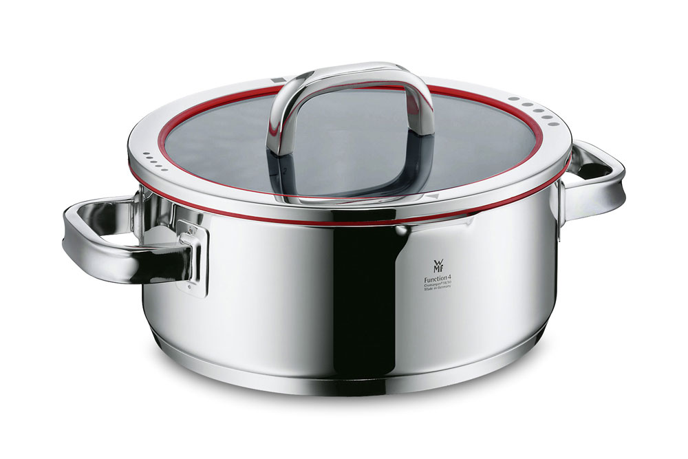 wmf function 4 stainless steel low casserole 4 quart cutlery and more. Black Bedroom Furniture Sets. Home Design Ideas