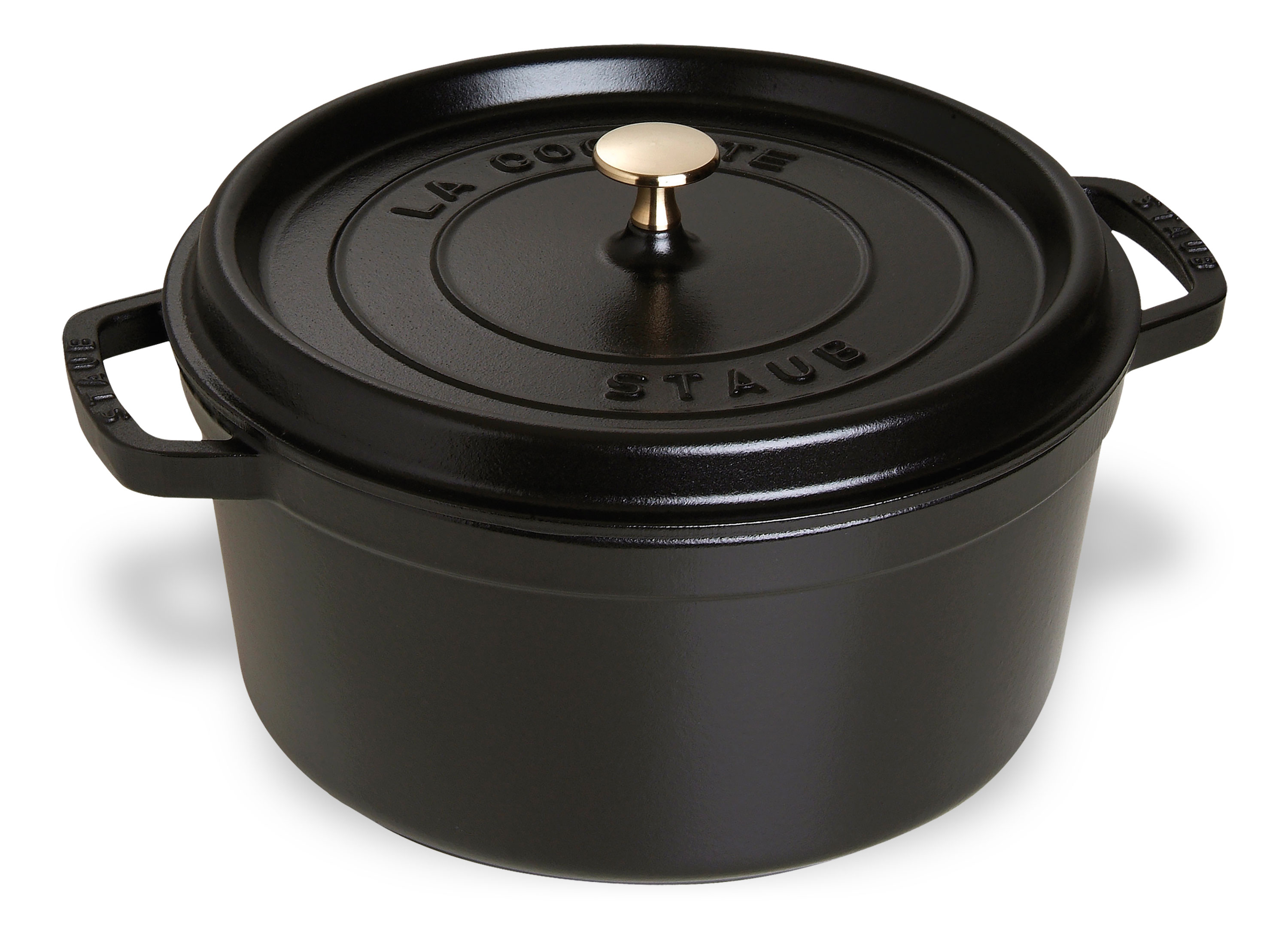 Staub Round Dutch Oven 9 Quart Matte Black Cutlery And