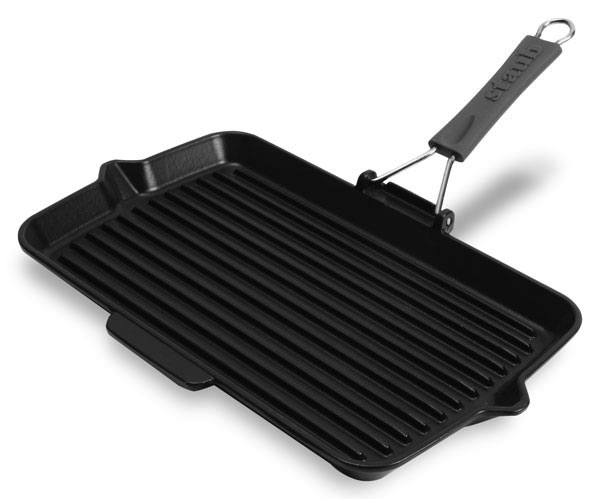 Staub Rectangular Grill Pan With Silicone Handles 13 X 8
