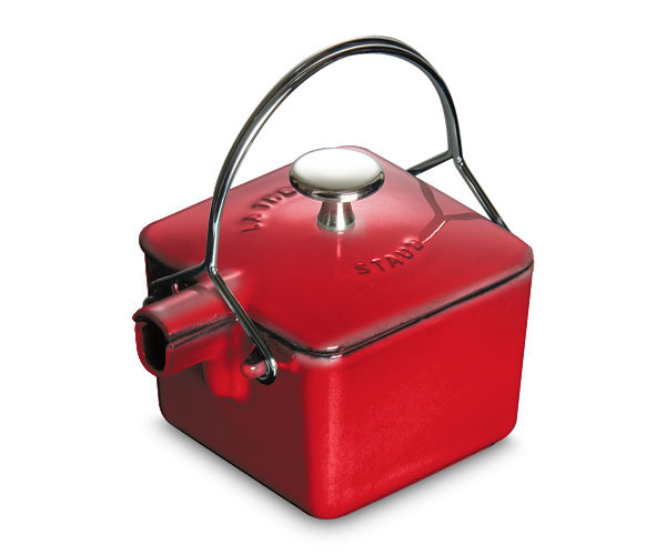 Staub Square Teapot 0 75 Quart Cherry Red Cutlery And More