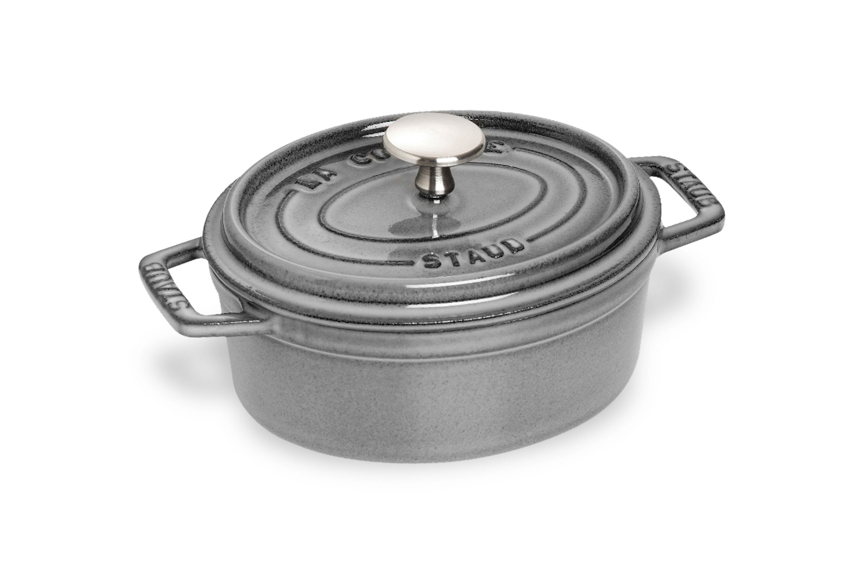 Staub Oval Dutch Oven 1 Quart Graphite Gray Cutlery