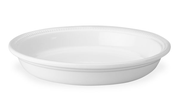 Le Creuset Stoneware Pie Dish 10 Inch White Cutlery And