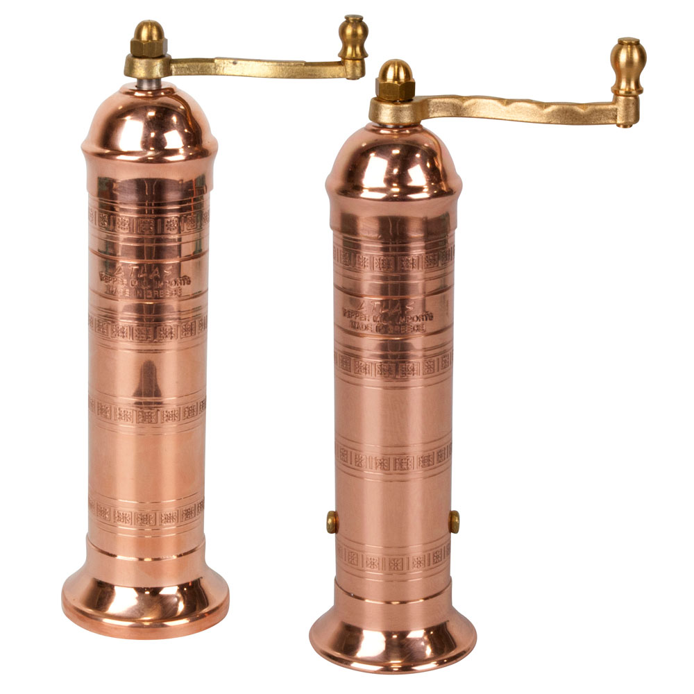 pepper mill imports atlas salt  pepper mill set inch copper  - copper