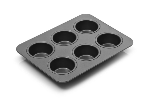 Chicago Metallic Nonstick Toaster Oven Muffin Pan 6 Cup