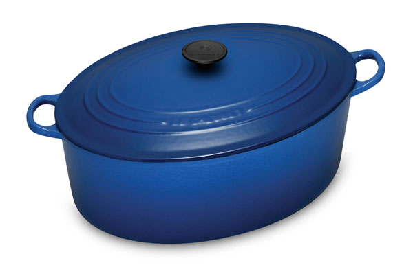 Le Creuset Cast Iron Oval Dutch Oven 8 Quart Cobalt Blue