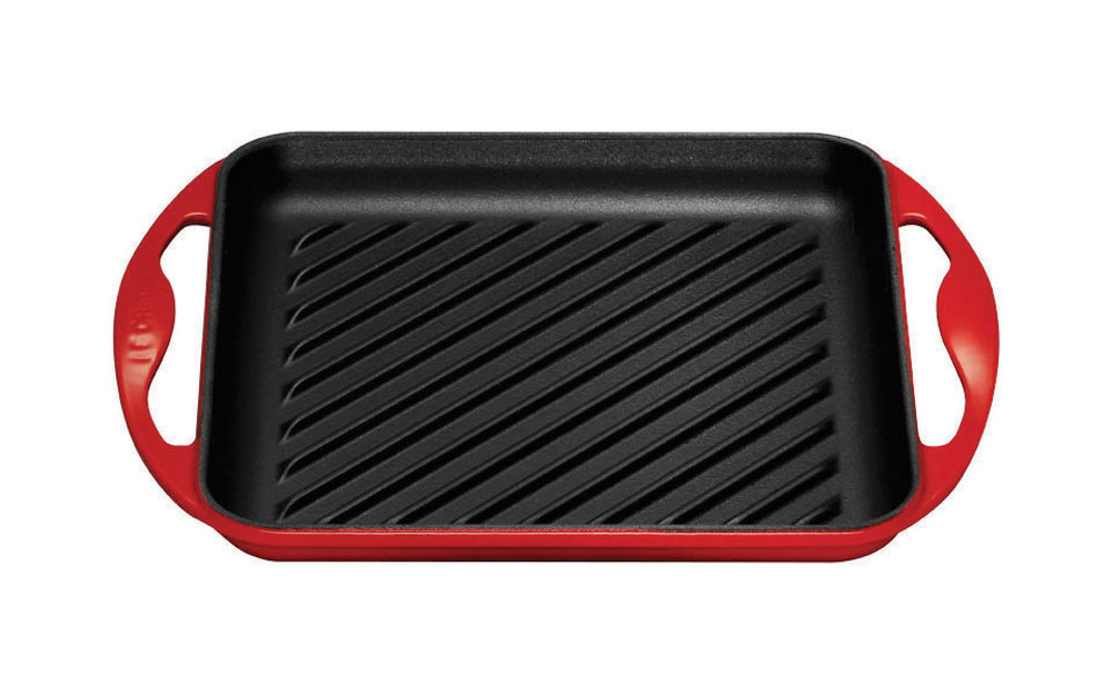Le Creuset Cast Iron Square Skinny Grill 9 5 Quot Cherry Red