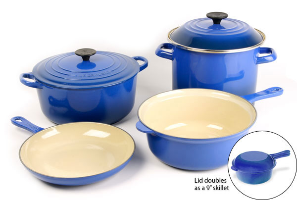 Le Creuset Multi Function Cookware Set, 6 Piece Cobalt Blue | Cutlery And  More