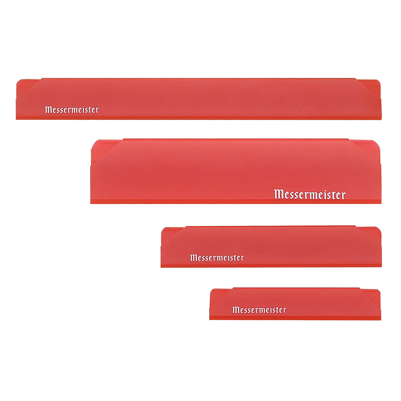 Messermeister Edge Guard Set 4 Piece Translucent Red