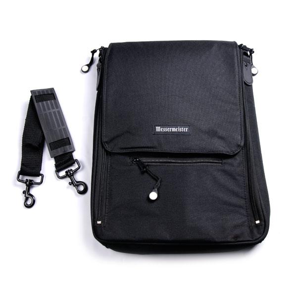 messermeister culinary messenger bag 6 pocket black cutlery and more. Black Bedroom Furniture Sets. Home Design Ideas