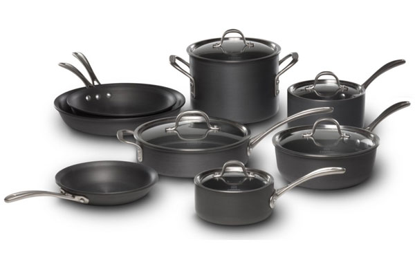 calphalon commercial hard anodized cookware set 13piece cutlery and more