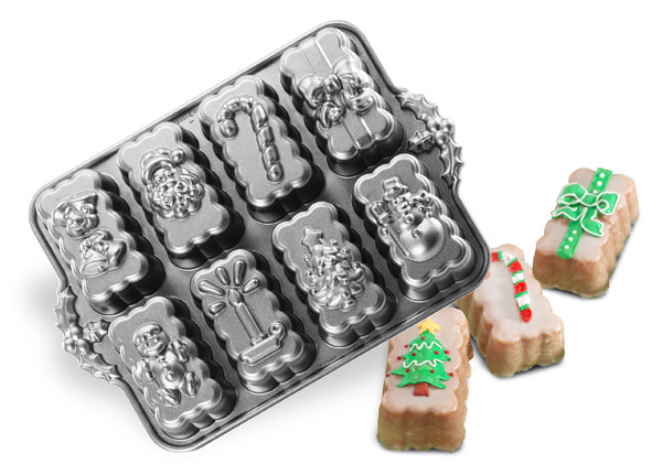 Nordicware Pro Form Bakeware Holiday Mini Loaf Pan