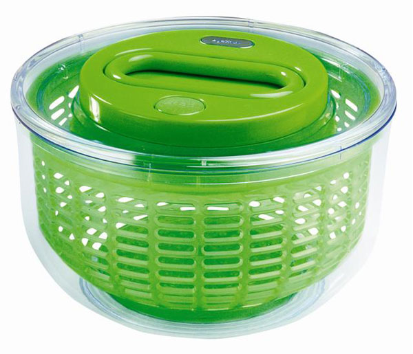 Zyliss Easy Spin Small Salad Spinner Green Cutlery And More
