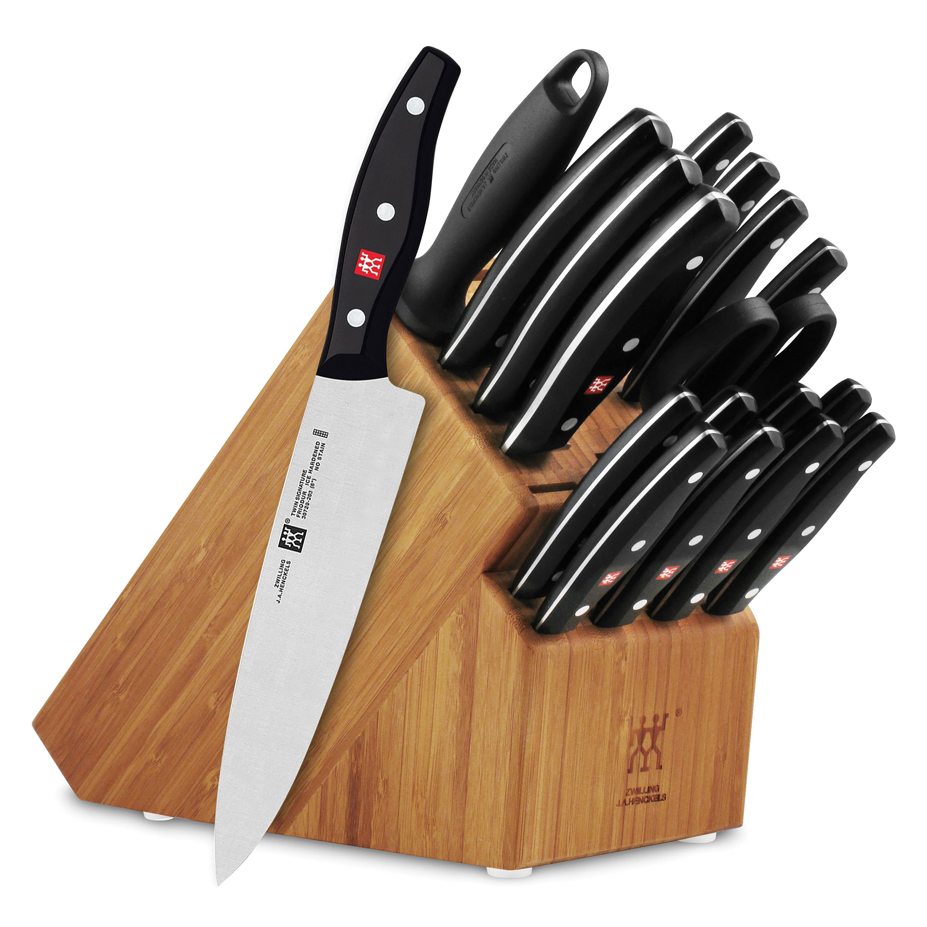 knives henckels j a henckels twin signature knife set 19 piece with block