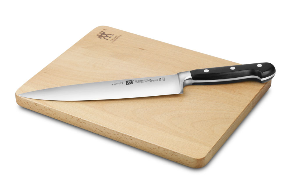 Zwilling j a henckels professional s 9 in chef 39 s knife for Kitchen knife set of 7pcs with cutting board