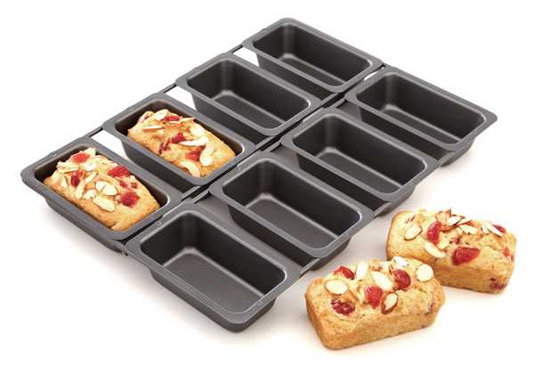 Chicago Metallic 8 Cavity Nonstick Linked Mini Loaf Pan