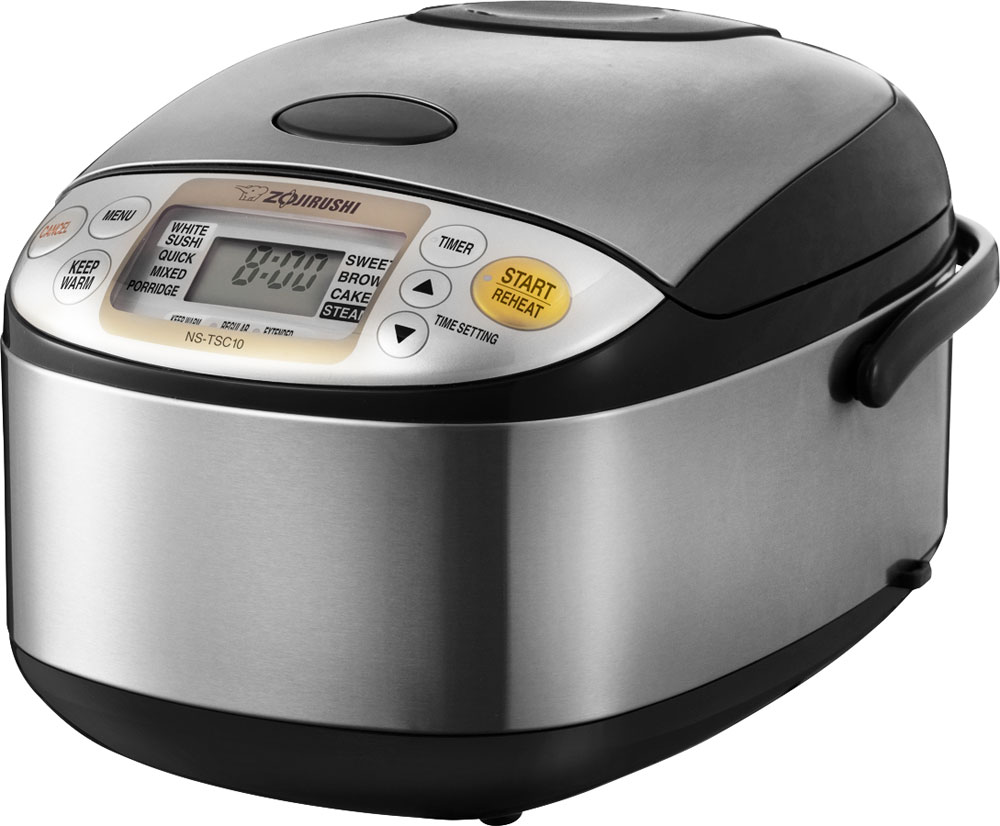 Zojirushi Black Stainless Steel Micom Rice Cooker Warmer 5 5 Cup Cutlery And More
