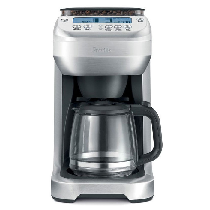 Breville Coffee Maker Set Timer : Breville YouBrew Glass Carafe Coffee Maker with Conical Burr Grinder Cutlery and More