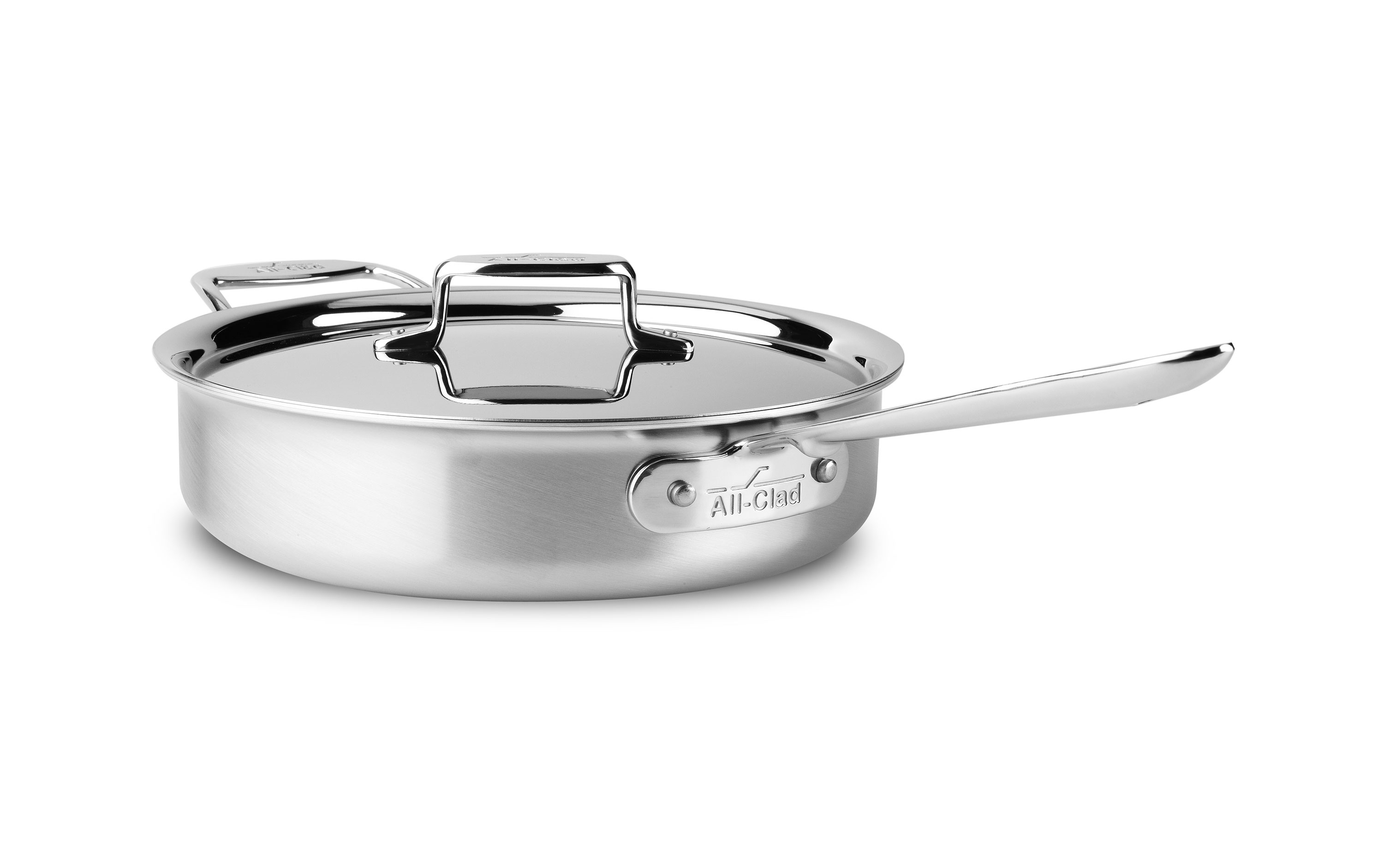 All Clad D5 Brushed Stainless Saute Pan 4 Quart Cutlery