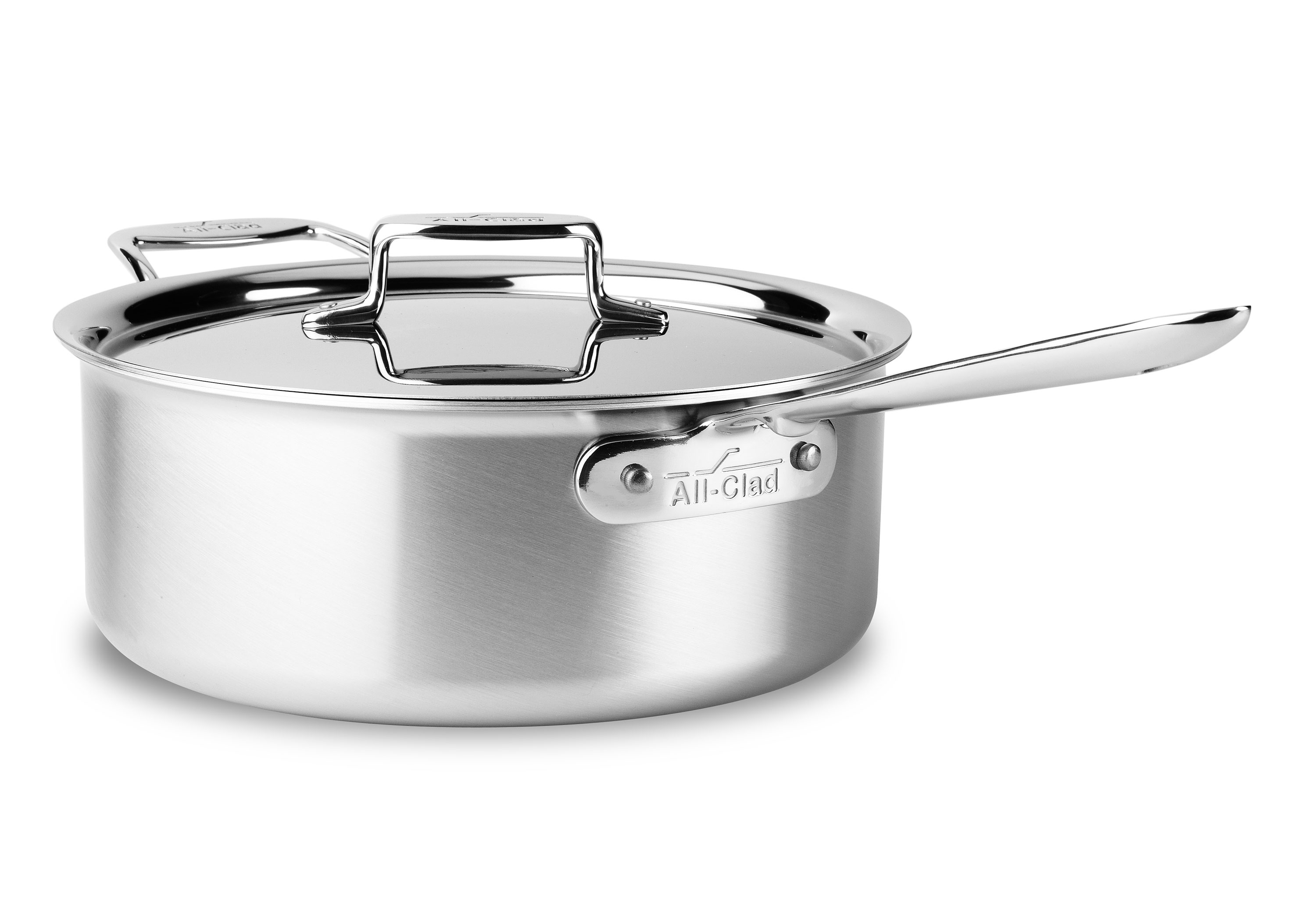 All Clad D5 Brushed Stainless Deep Saute Pan 6 Quart