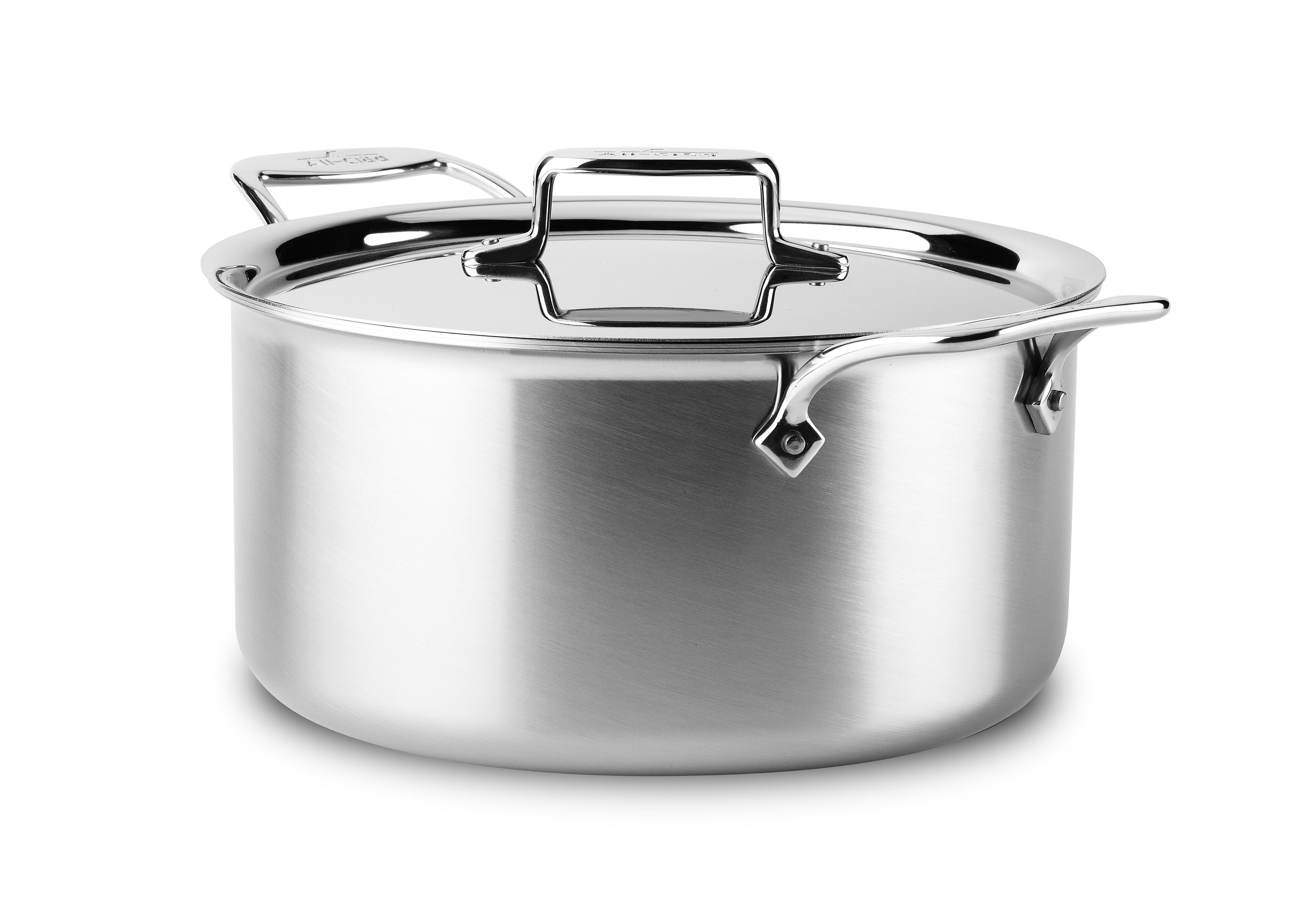 All Clad D5 Brushed Stainless Stock Pot 8 Quart Cutlery