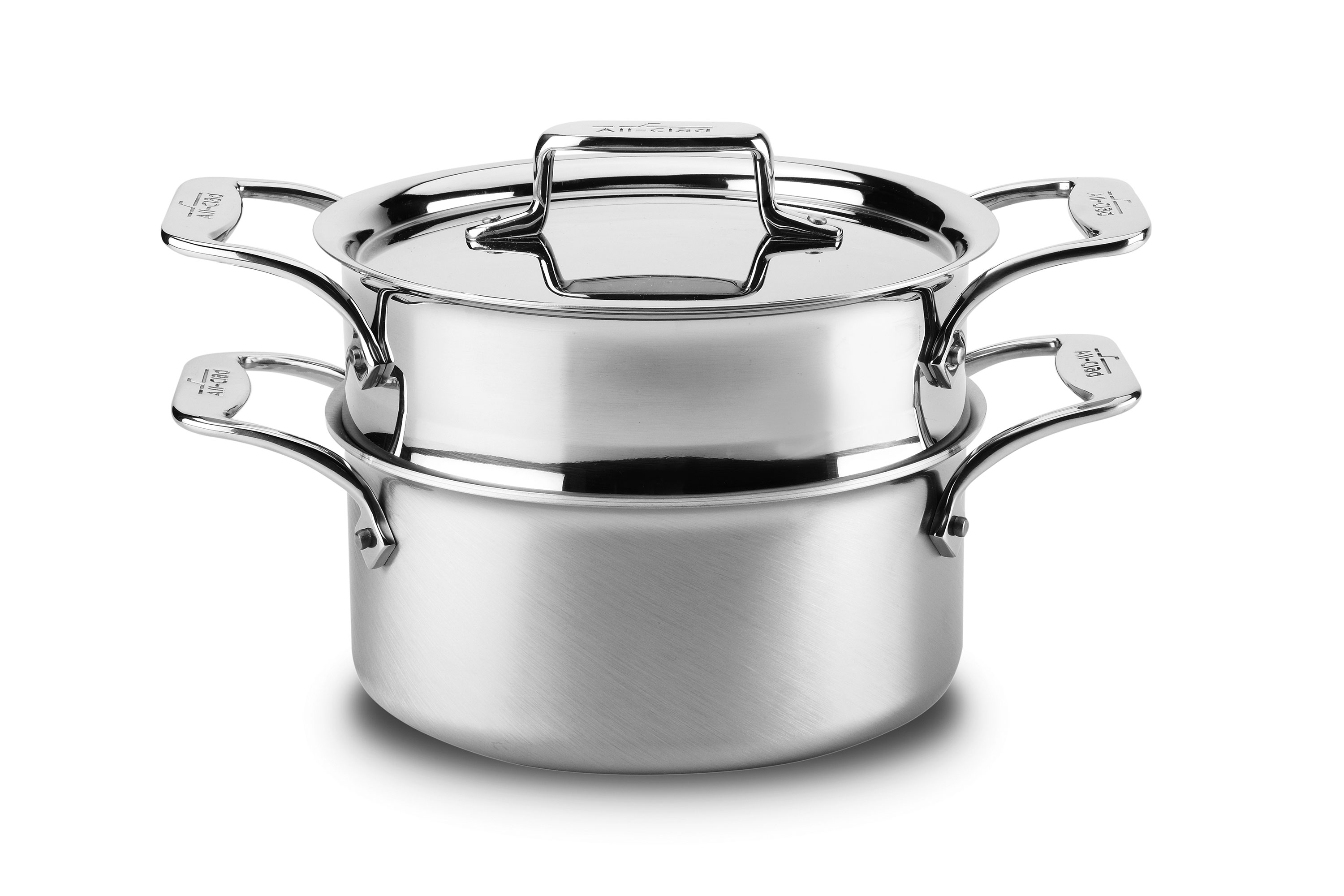 All Clad D5 Brushed Stainless Casserole With Steamer