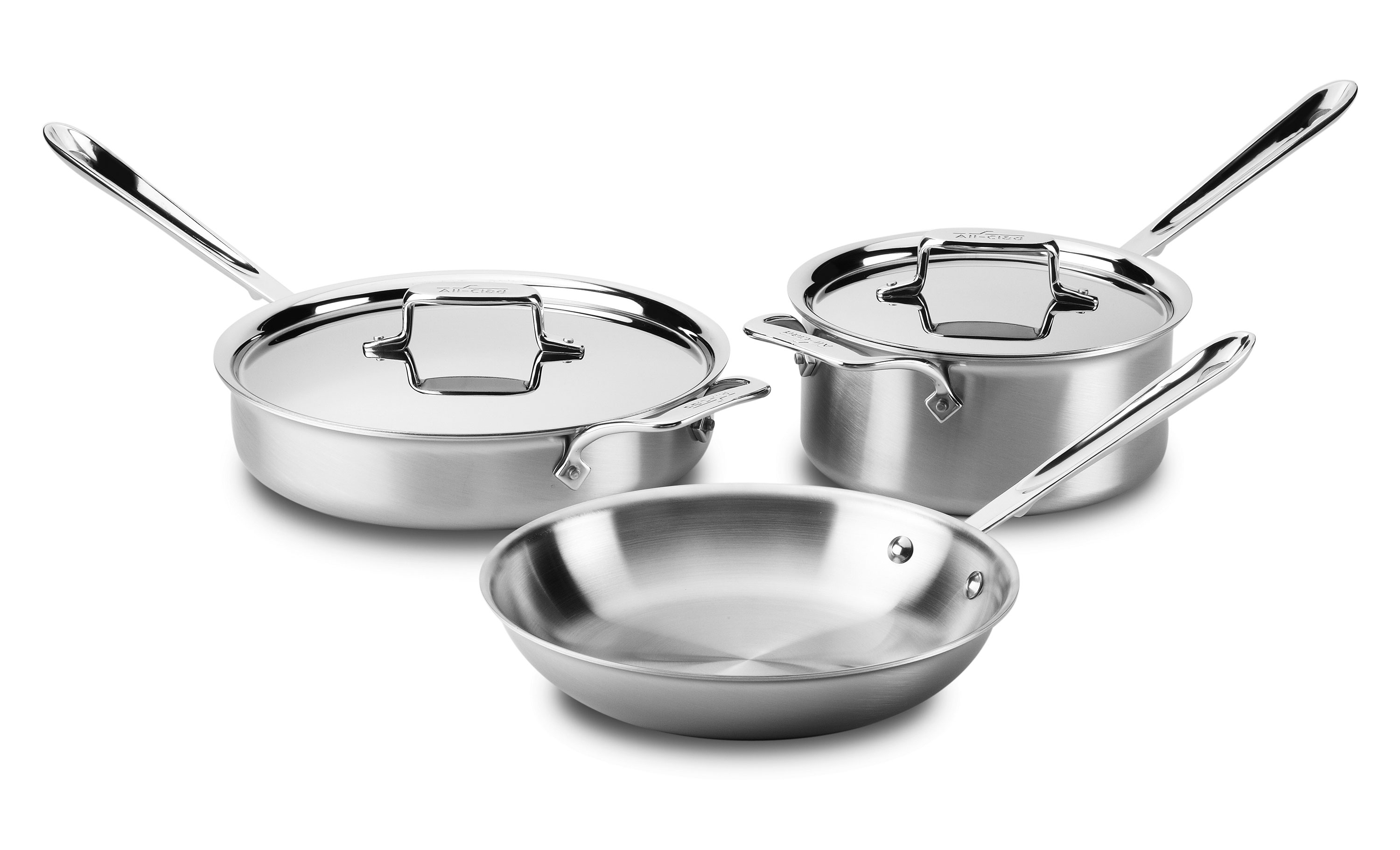 All Clad D5 Brushed Stainless Cookware Set 5 Piece