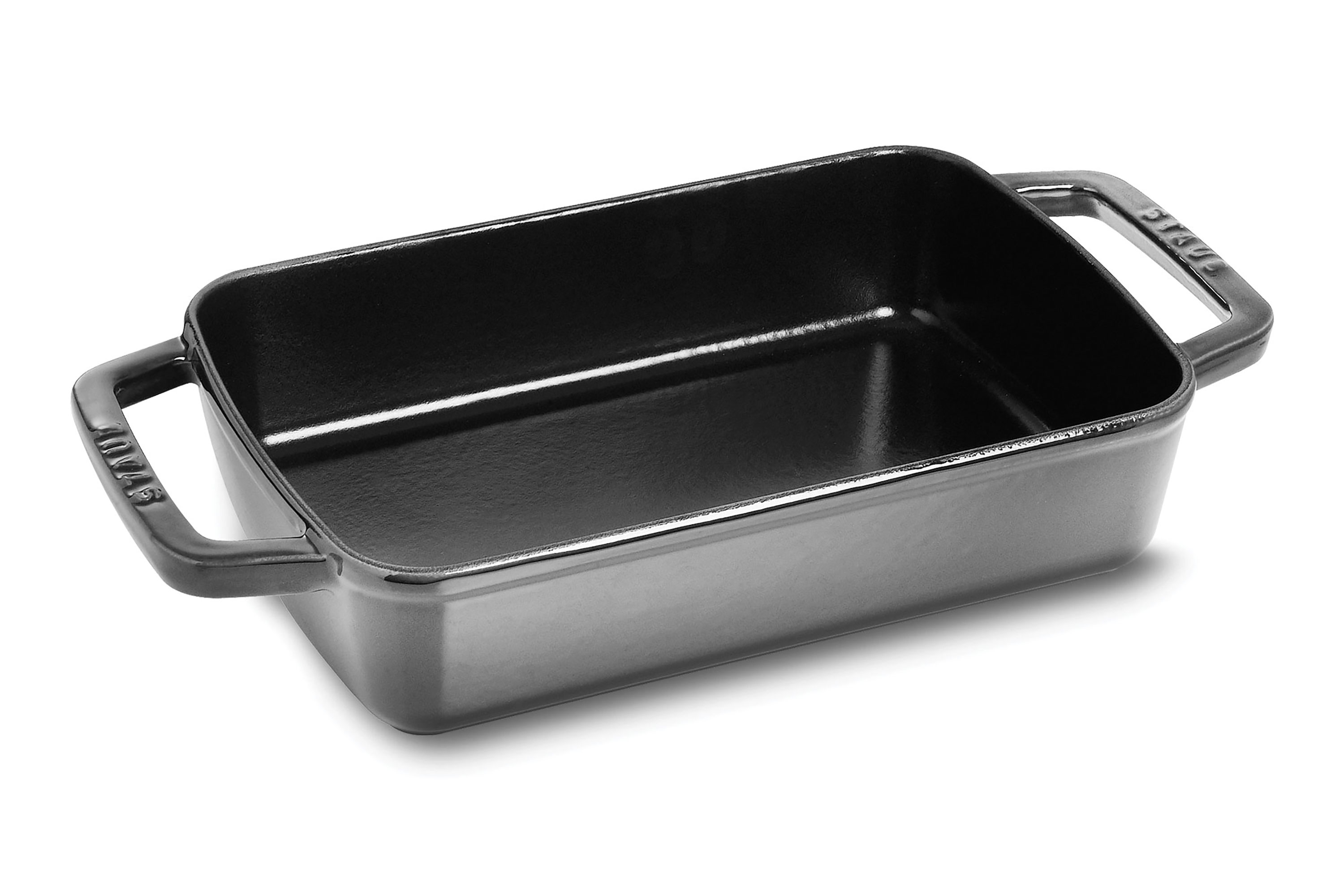 Staub Roasting Pan 8 X 12 Inch Graphite Grey Cutlery
