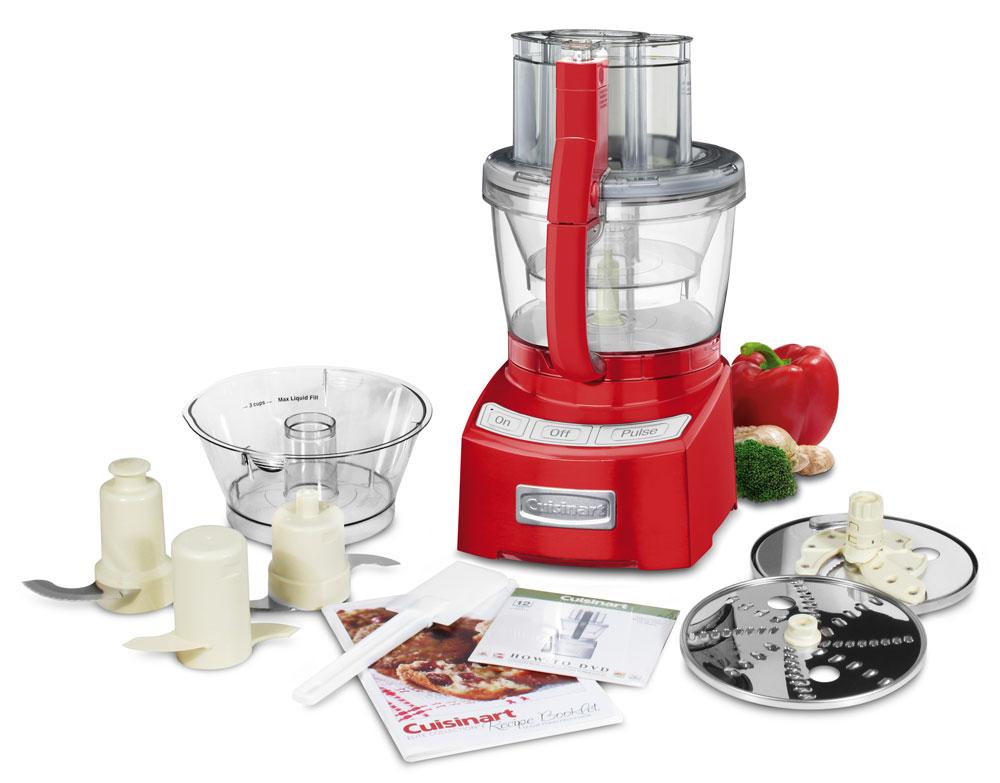 Cuisinart Elite Food Processor 12 Cup Metallic Red
