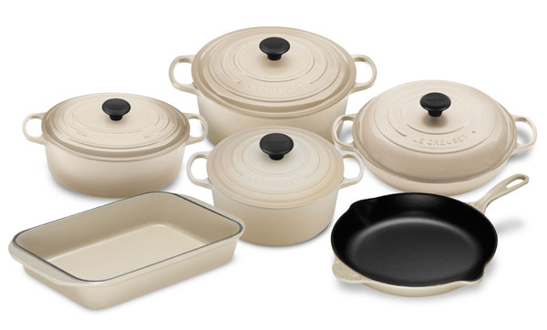 Le Creuset Signature Cast Iron 10 Piece Dune Cookware Set
