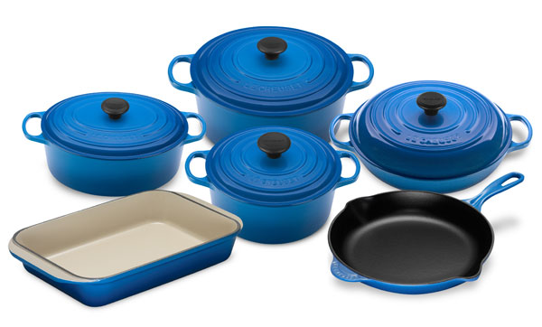 Le Creuset Signature Cast Iron Cookware Set 10 Piece