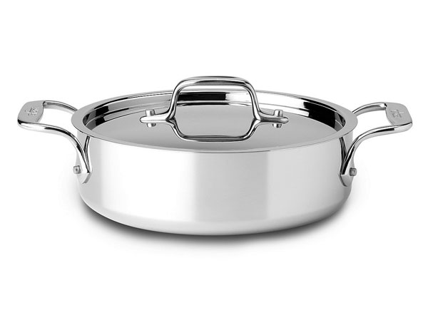 All Clad D3 Stainless Side Saute Casserole Pan 2 Quart