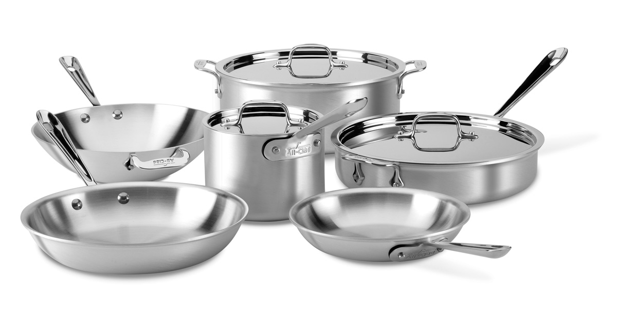 All Clad Master Chef 2 Cookware Set 9 Piece Cutlery And