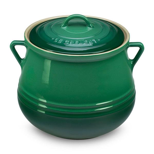 Le Creuset Stoneware Heritage Bean Pot 4 5 Quart Fennel