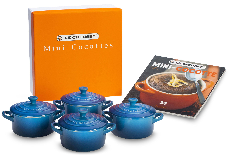 Le Creuset Stoneware Mini Cocotte Amp Cookbook Set 5 Piece
