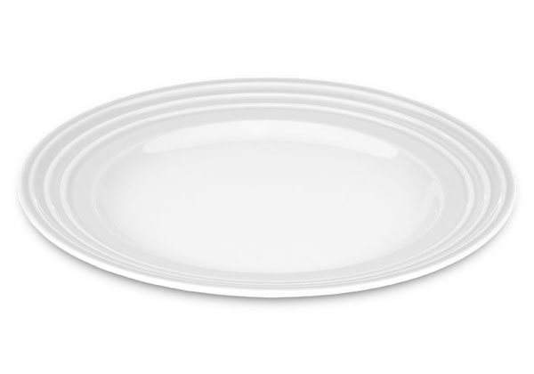 Le Creuset Stoneware Dinner Plate 12 Inch White Cutlery