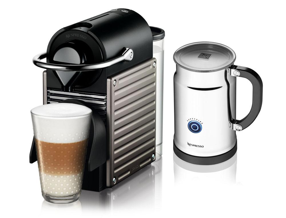 Nespresso Pixie Espresso Maker with Aeroccino Plus Milk Frother ...