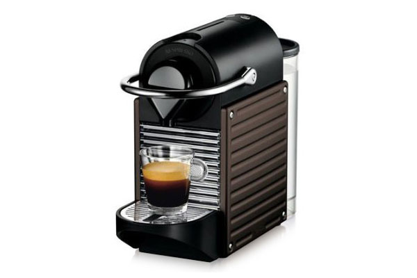 Nespresso Pixie Coffee Amp Espresso Maker Brown Cutlery