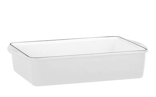 Mario Batali 13x9x3 White Enameled Cast Iron Deep Lasagna Pan