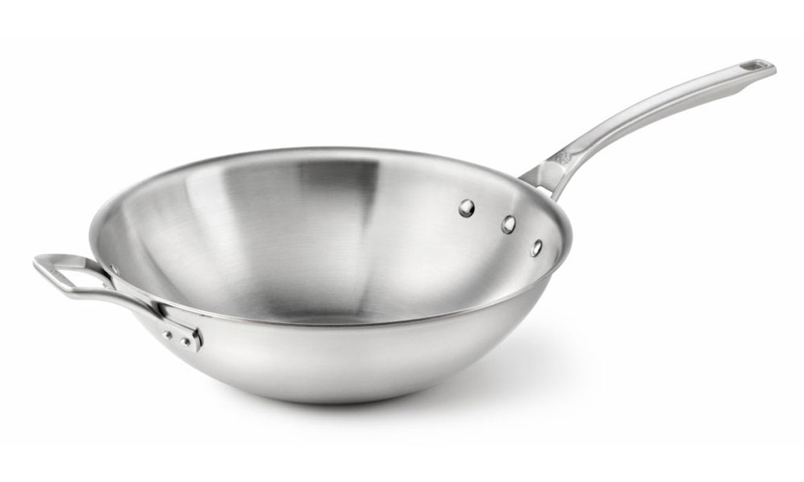 Calphalon Accucore Stainless Steel Flat Bottom Wok 12