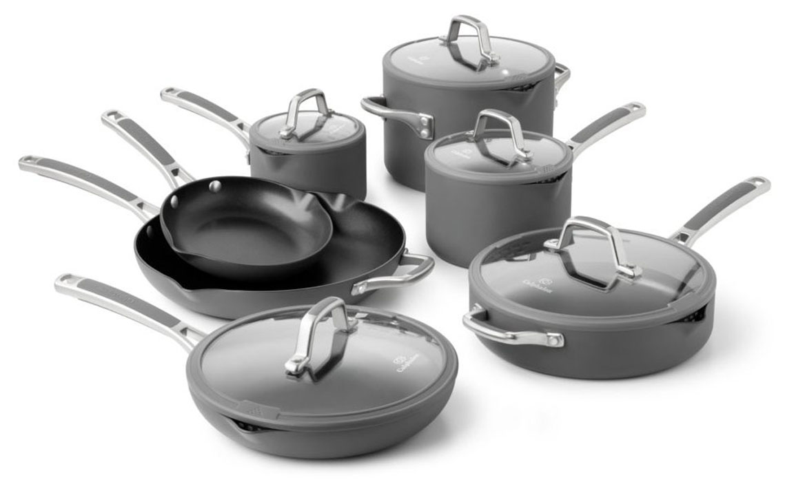 calphalon easy system nonstick cookware set 12piece cutlery and more