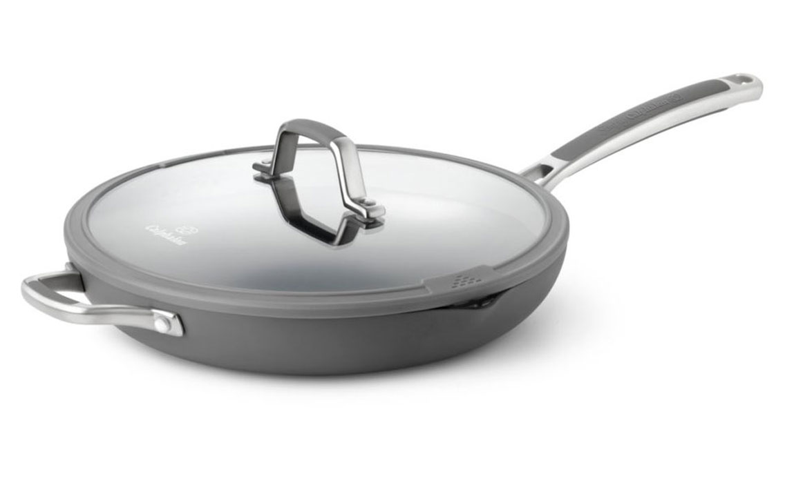 Calphalon Easy System Nonstick Skillet With Lid 12