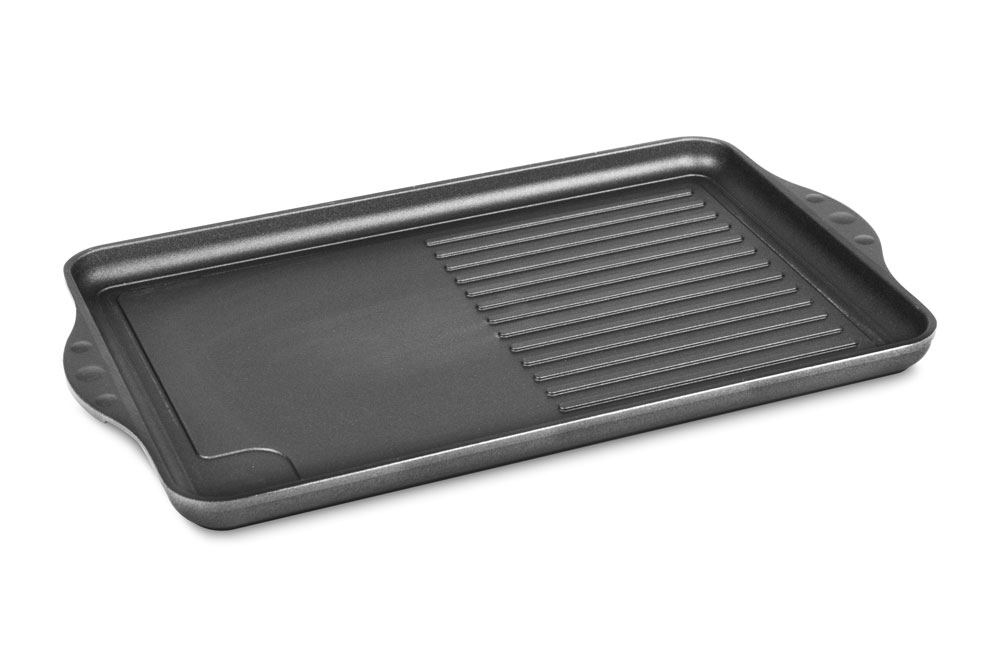 Swiss Diamond Nonstick Double Burner Grill Griddle Pan