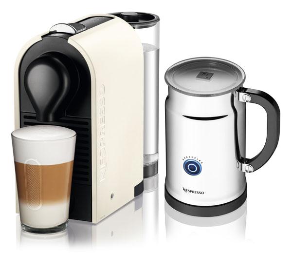 Nespresso U Pure Compact Coffee Espresso Maker With Milk