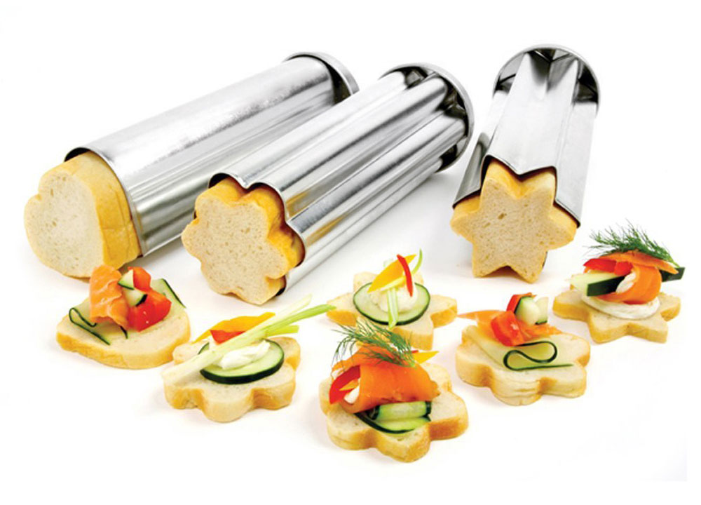norpro canape bread mold set 3 piece cutlery and more